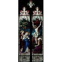 Gothic Two Panel Crucifixion