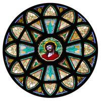 Christ Rose Window