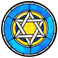 Blue and Yellow Star of David