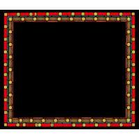 Red Framed Plaque