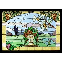 Floral Landscape Window