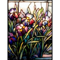 Tiffany Iris Panel