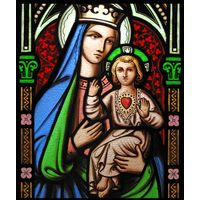 Blessed Mother and Christ