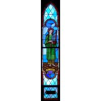 Saint Cecilia Arched Window
