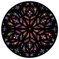 Colorful Cherub Rose Window