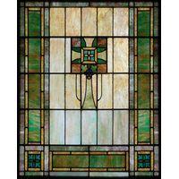 Green Framed Cross