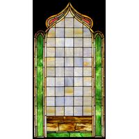 Geometric Patterned Stained Glass Window