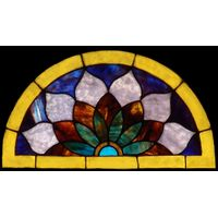 Vibrant Floral Stained Glass Panel