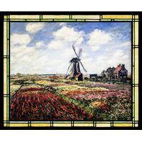 Tulip Fields with the Rijnsburg Windmill