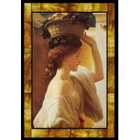 Eucharis - A Girl with a Basket of Fruit